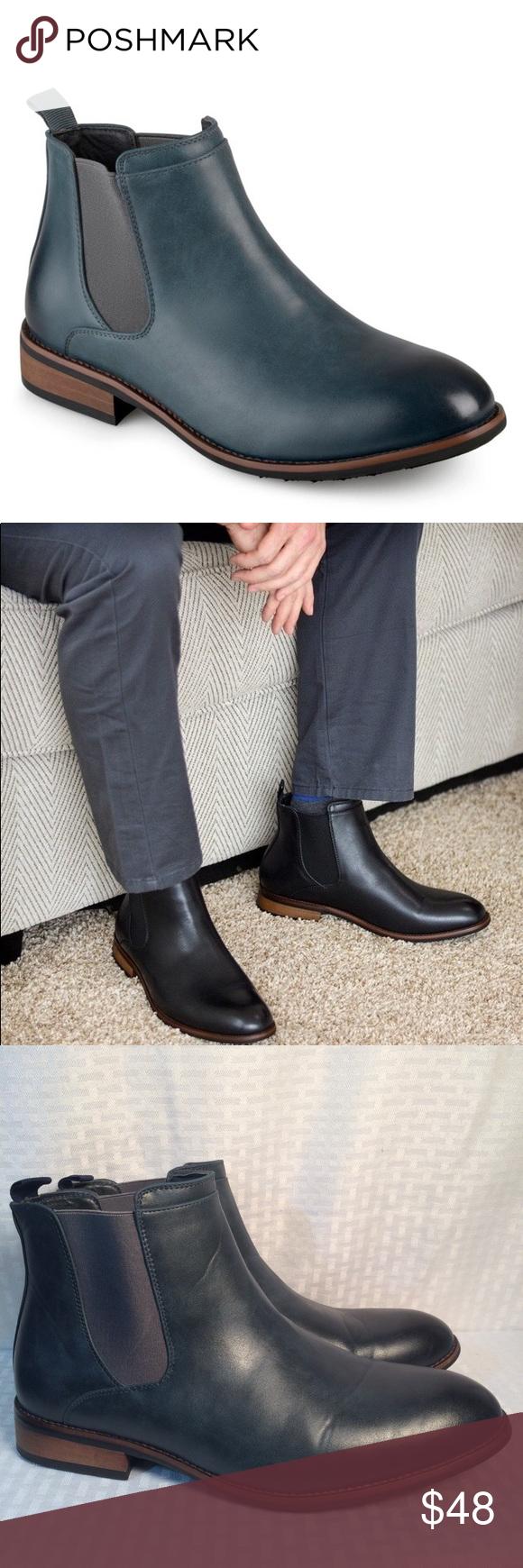 96456dfb98c Vance Co. Men s  Landon  Chelsea Dress ankle Boots Upscale design and sleek  design create the high-top Chelsea dress boot by Vance Co. a dapper look.