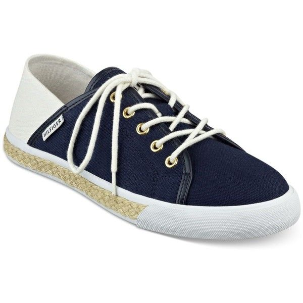 Tommy Hilfiger Flip Sneakers ($40) ❤ liked on Polyvore featuring shoes, sneakers, flip shoes, tommy hilfiger shoes, tommy hilfiger footwear, tommy hilfiger and tommy hilfiger sneakers