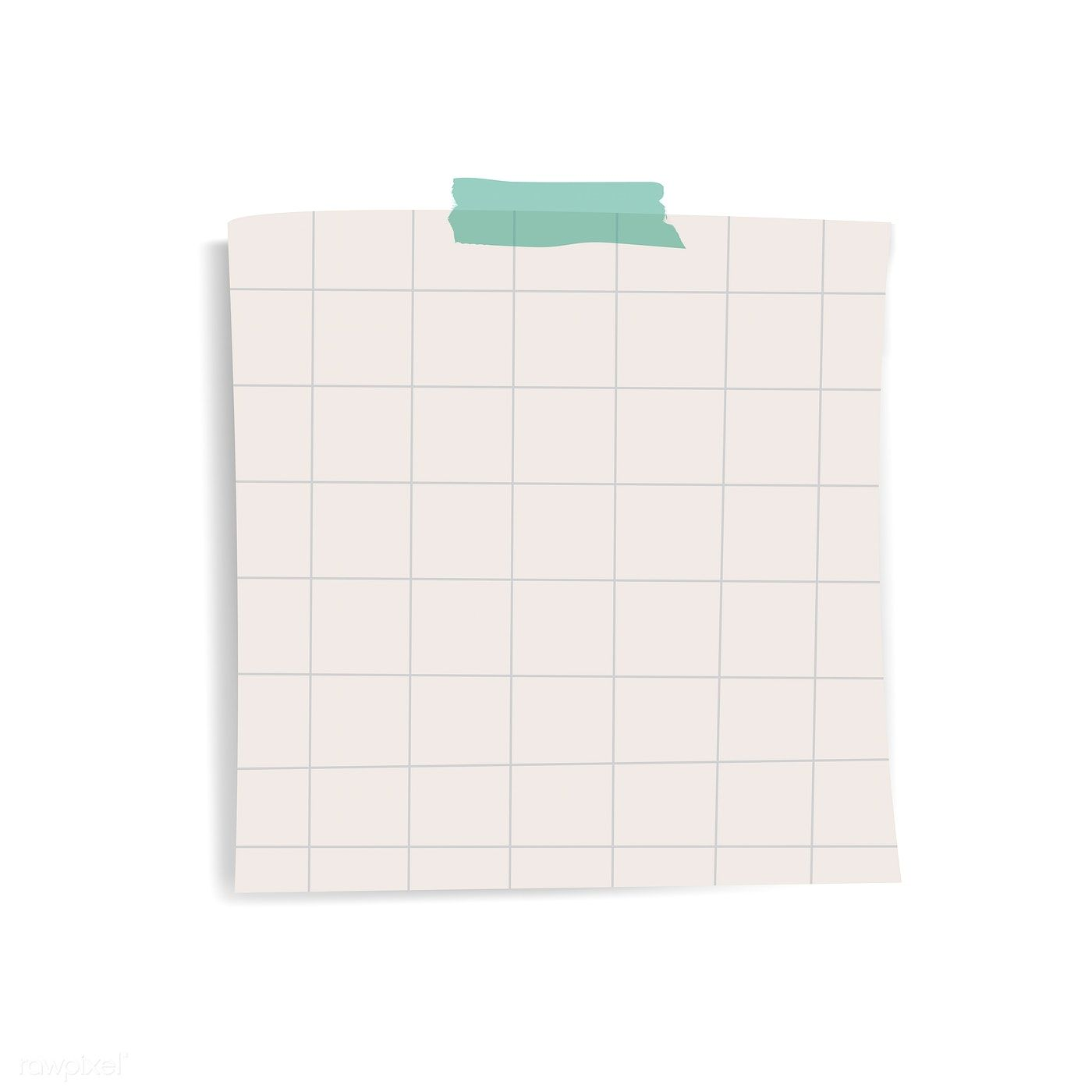 Blank Square Grid Reminder Paper Note Vector Free Image By Rawpixel Com Chayanit Note Paper Sticky Notes Paper Background Texture