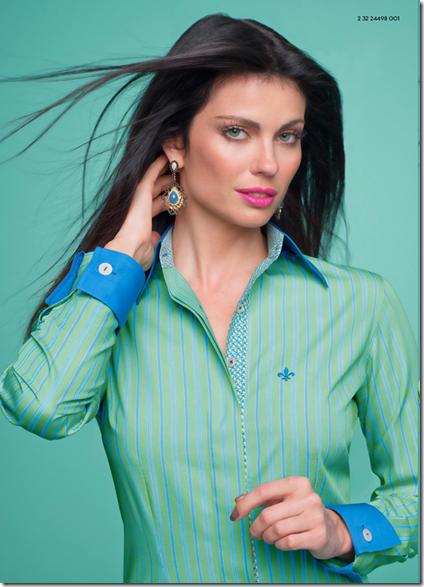 Resultado de imagem para dudalina feminina. camisa-verde-listrada-dudalina 99ddaf90da356