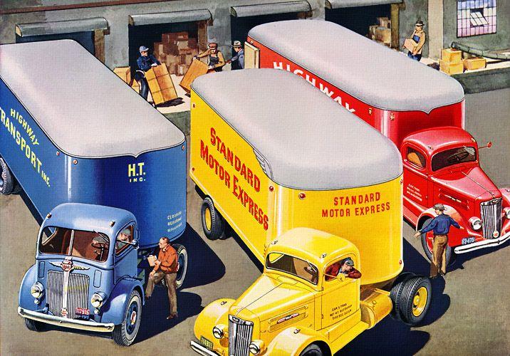 Plan59 Vintage Toy Trucks 1941 White Trucks A