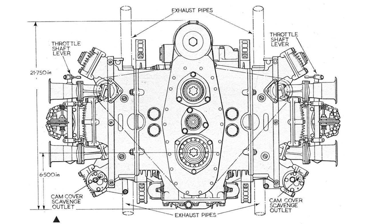 British Racing Motors H 16 Flat 16 Engine Diagram Photo