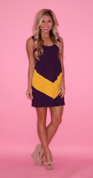 bb8dd82d2111 LSU Gameday Dress. ive been looking for this everywhere!!