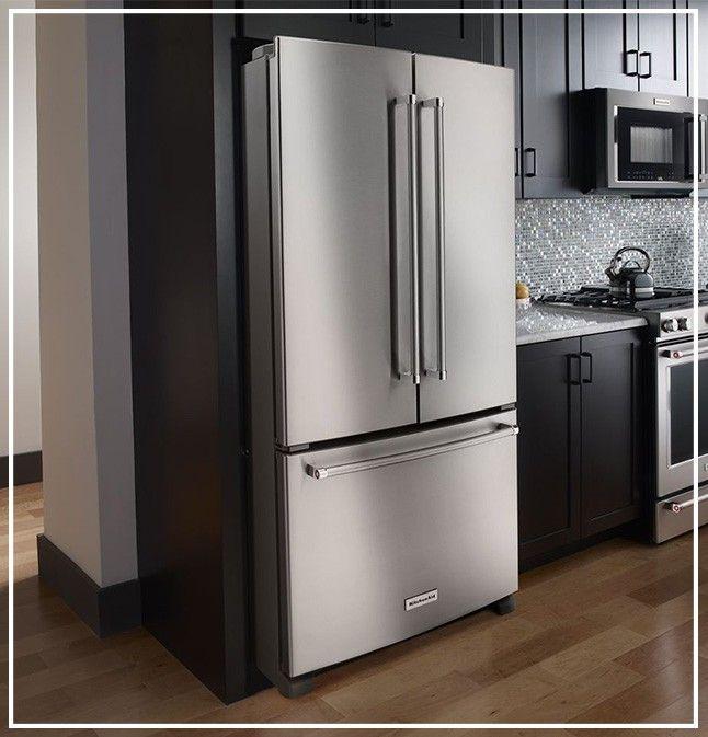 Counter Depth Refrigerator Vs Standard Depth Refrigerator In 2021 Counter Depth Refrigerator Counter Depth Diy Kitchen Remodel