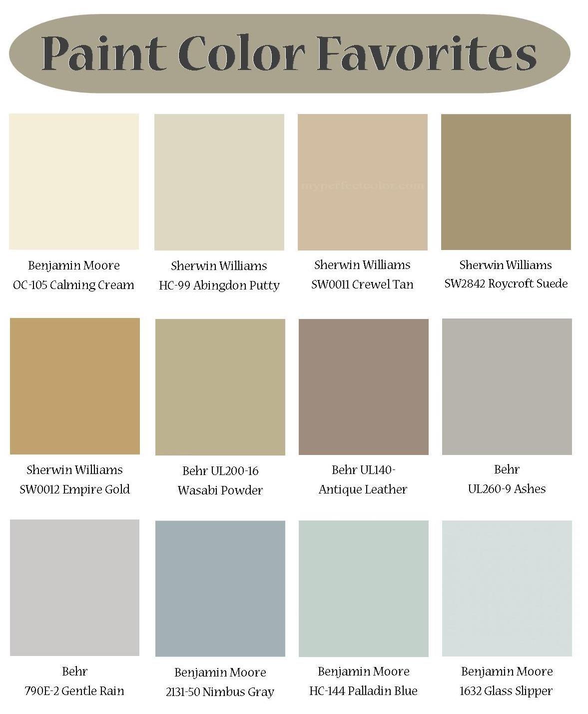 Paint Favorites Neutral Colorsinterior