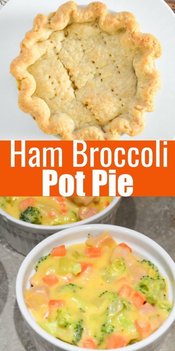 Cheese Ham And Broccoli Pot Pie Leftover Ham Recipes Ham Dinner Recipes Ham Dishes