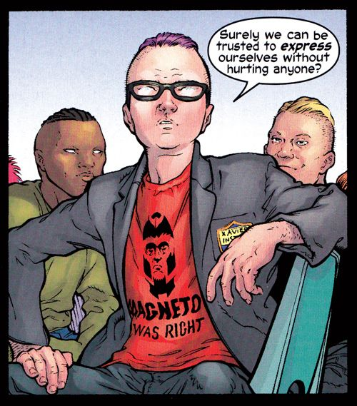 Angelophile Bottlenecker Magneto Was Right Quentin Quire Marvel Kids Comics Love X Men
