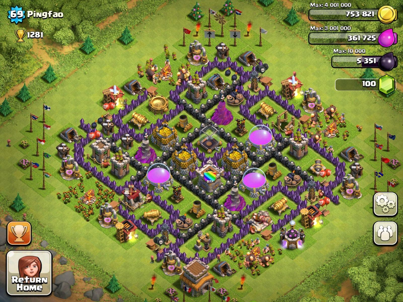 Best Town Hall Defense Thread Best Town Hall farming base