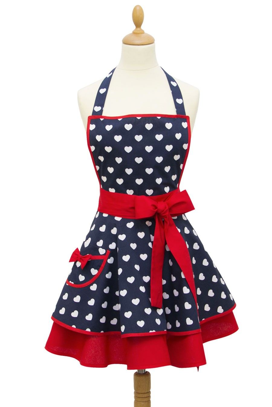 tablier-cuisine-coeur-bleu | tabliers de cuisine | Sewing aprons ...