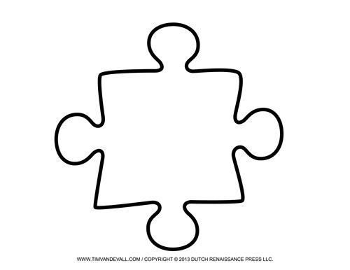 Blank Puzzle Piece Template Free Single Puzzle Piece Images