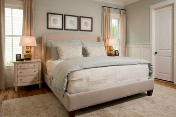 Sherwin Williams Oyster Bay. Our master & guest room will be 3 shades lighter.