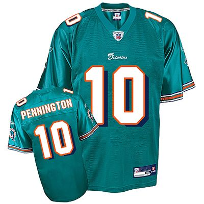 low priced 444a2 9b5c3 reebok miami dolphins chad pennington 10 white authentic ...