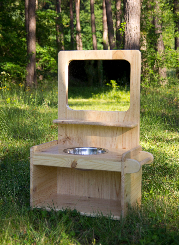 Meuble De Toilette En Bois Pour Enfant Salle De Bains Lavabo Montessori Fait Main Meuble Toilette Lavabo Enfant Toilettes