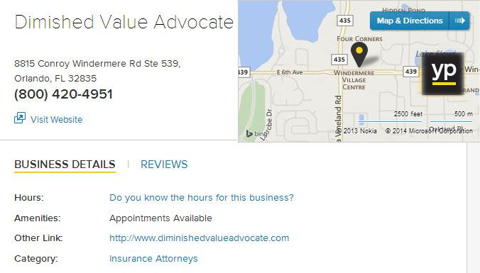 You Can Find The Diminished Value Advocate Orlando Florida 32835 An American Insurance Advocate Group In