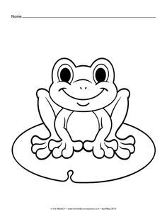 Merveilleux Coloring Pages: Frog, Butterfly, And Flower With Ladybug