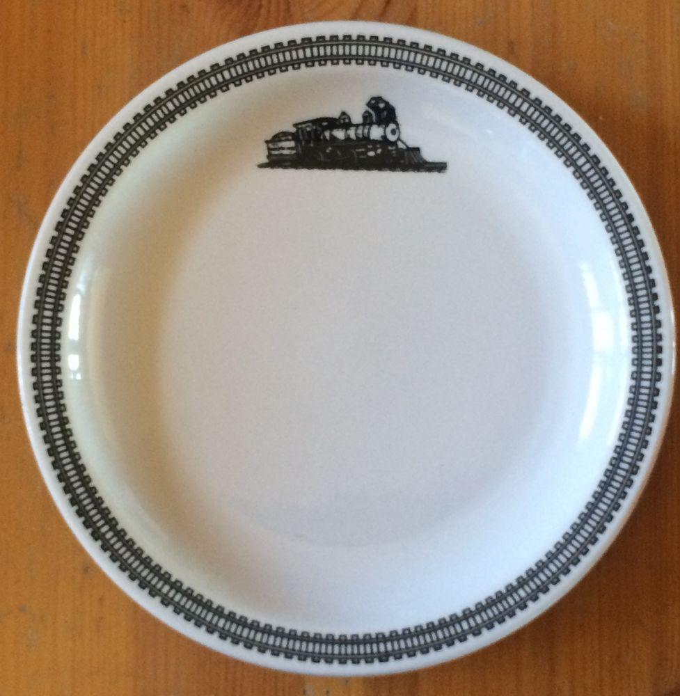 Homer Laughlin China Railroad Train Dinner Plate Conrail GGA-1
