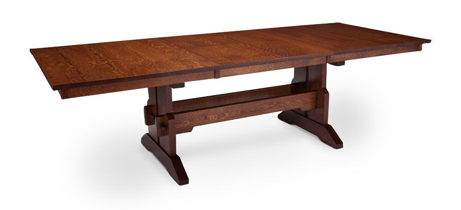 Franklin Trestle Table With Butterfly Leaf From Simply Amish Furniture