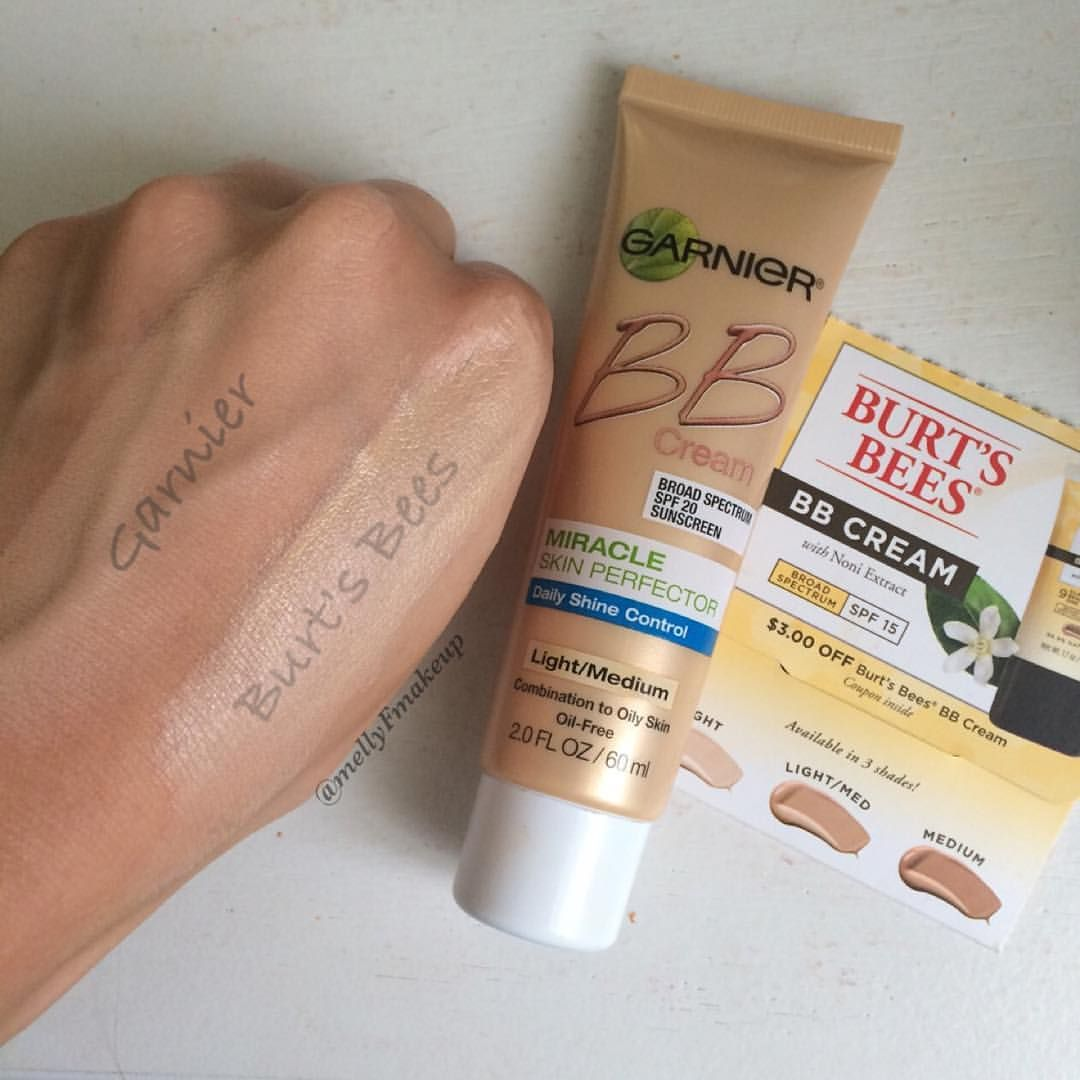 Garnier Bb Cream Miracle Skin Perfecter In Light Medium And Burt S