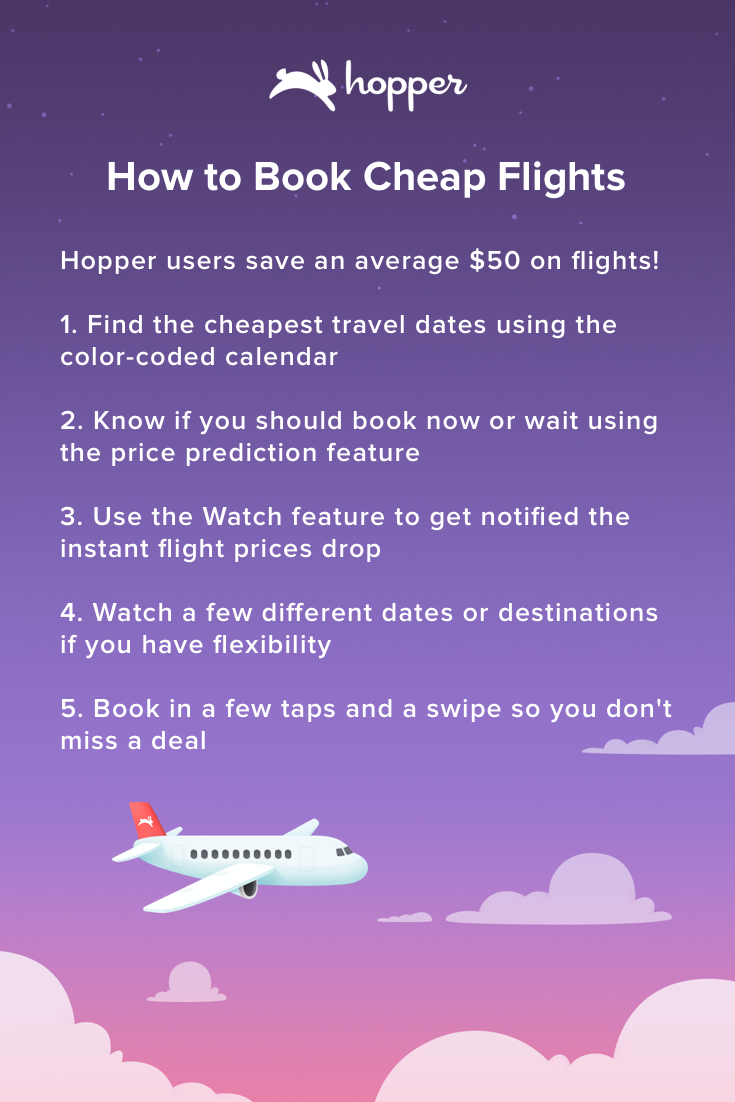 Hopper tells you when to fly & buy! Save up to 40 on your