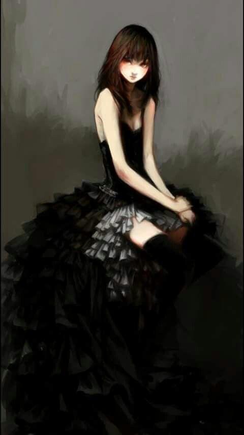Sueno con una mujer vestida de negro