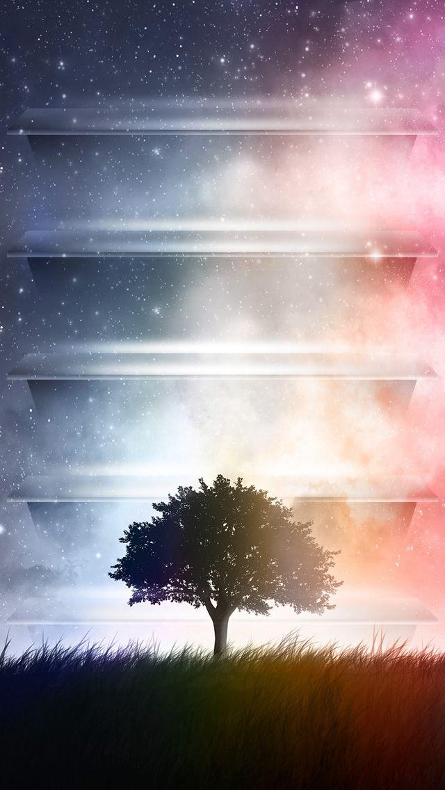 Sky And Tree Icon Shelf Wallpaper Ipod Wallpaper Iphone Wallpaper Hipster Iphone 5s Wallpaper