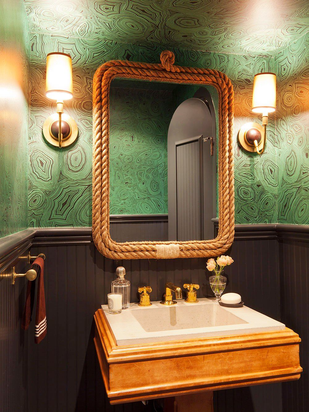 Cheap To Chic Musing Over Malachite Small Bathroom
