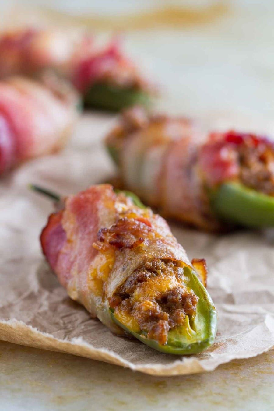 Would I like crispy, spicy, salty, cheesy goodness with my jalapenos? Why yes, yes I would.