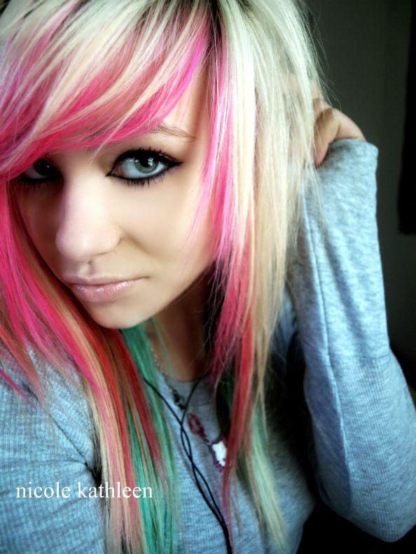 Pink Emo Hair Emo Hair Cool Hair Color Scene Hair