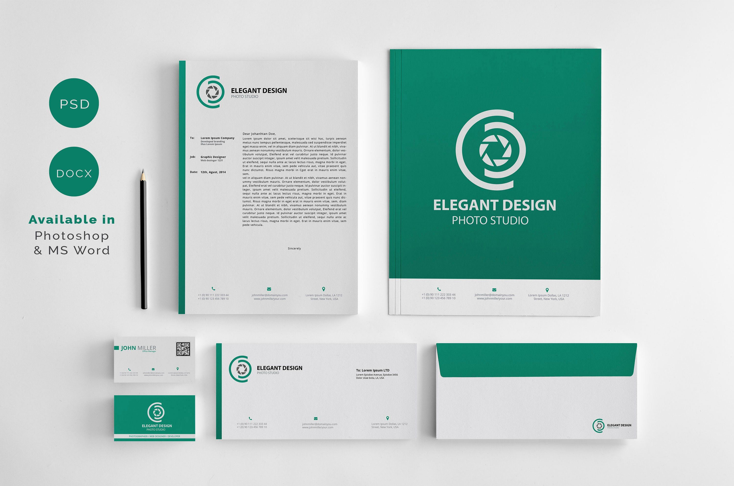 Corporate Identity With Images Corporate Identity Business