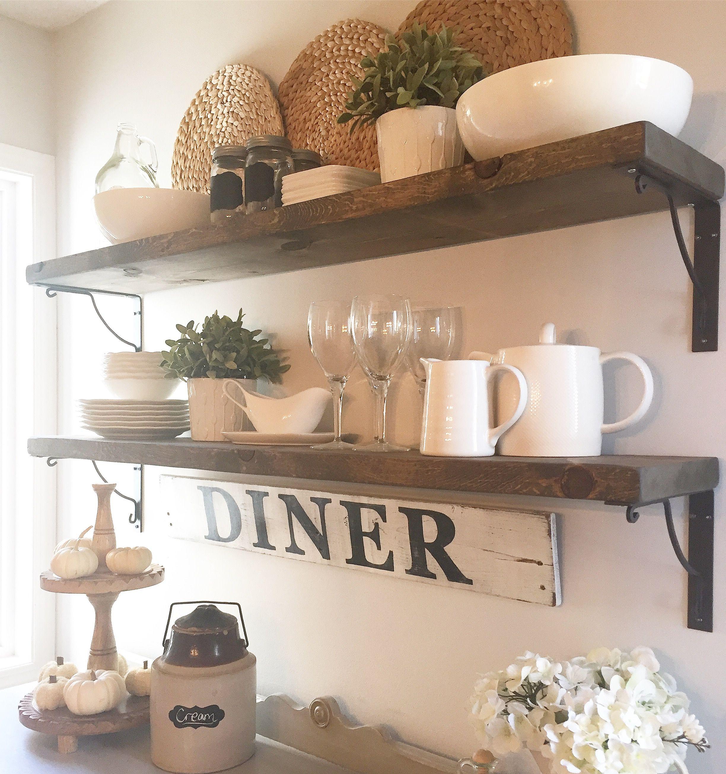 Easy DIY shelves using Ikea brackets Kitchen remodel