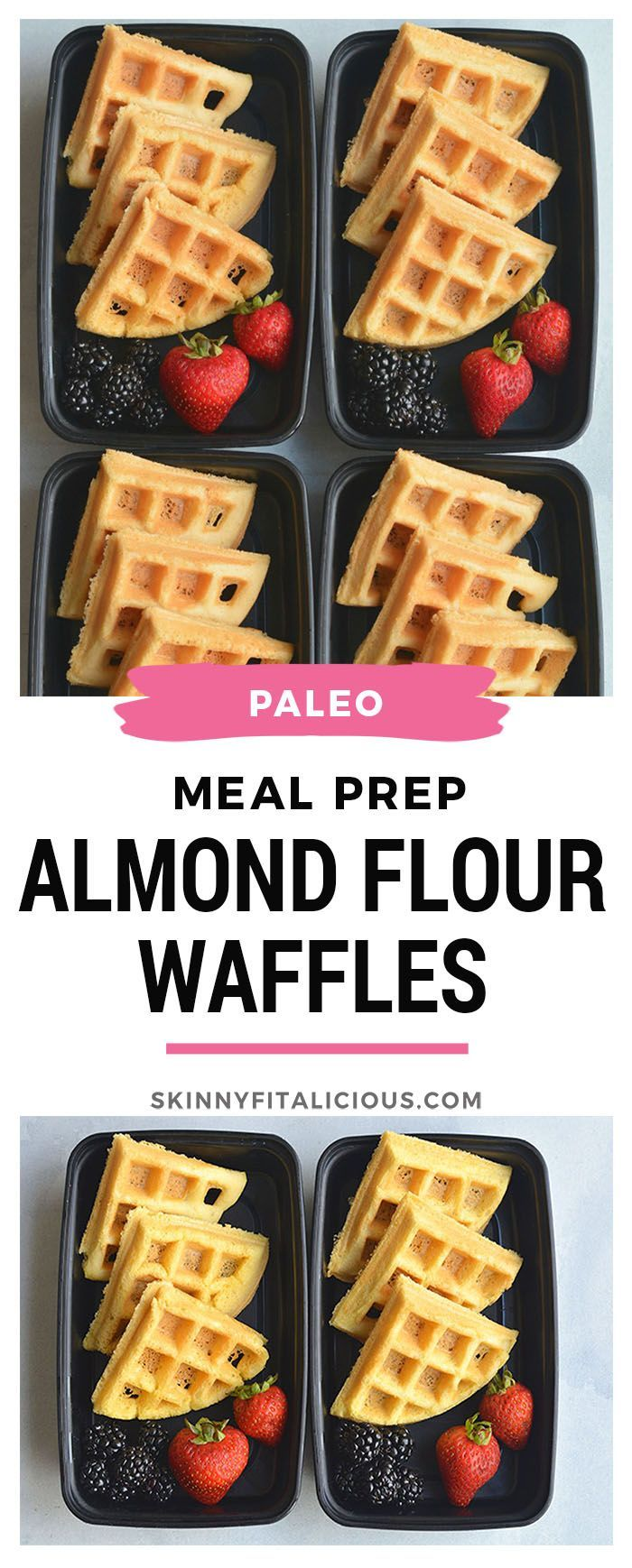 Prep Almond Flour Waffles are a breeze tomake and rich in protein. Easy to make light and fluffy with a few healthy, dairy free ingredients. Great for an easy breakfast meal prep and freezable too! Paleo + Gluten Free