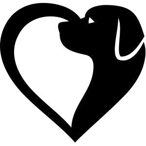 Rusty Dog in Heart Shape #dog | Dog silhouette, Dog ...