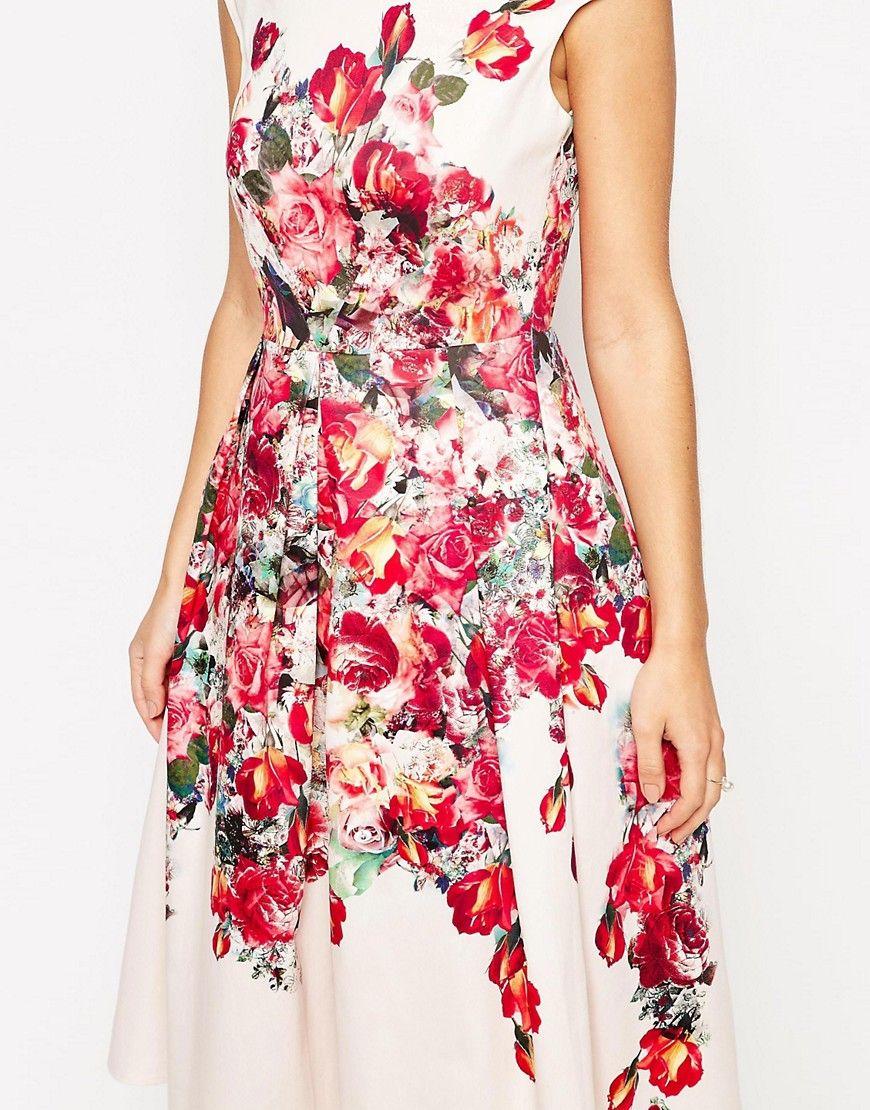 Image 3 of ASOS Vintage Floral Bardot Prom Dress | fasion | Pinterest