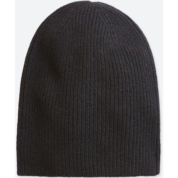 chunky ribbed knit beanie hat - Black N.Peal bDbQxJlo