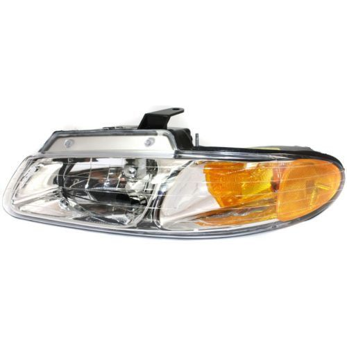 2000 Dodge Caravan Head Light LH, Assembly, Halogen, With Out Quad And Daytime