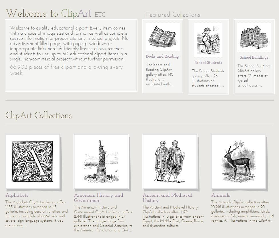 ClipArt ETC, from the Educational Technology Clearinghouse