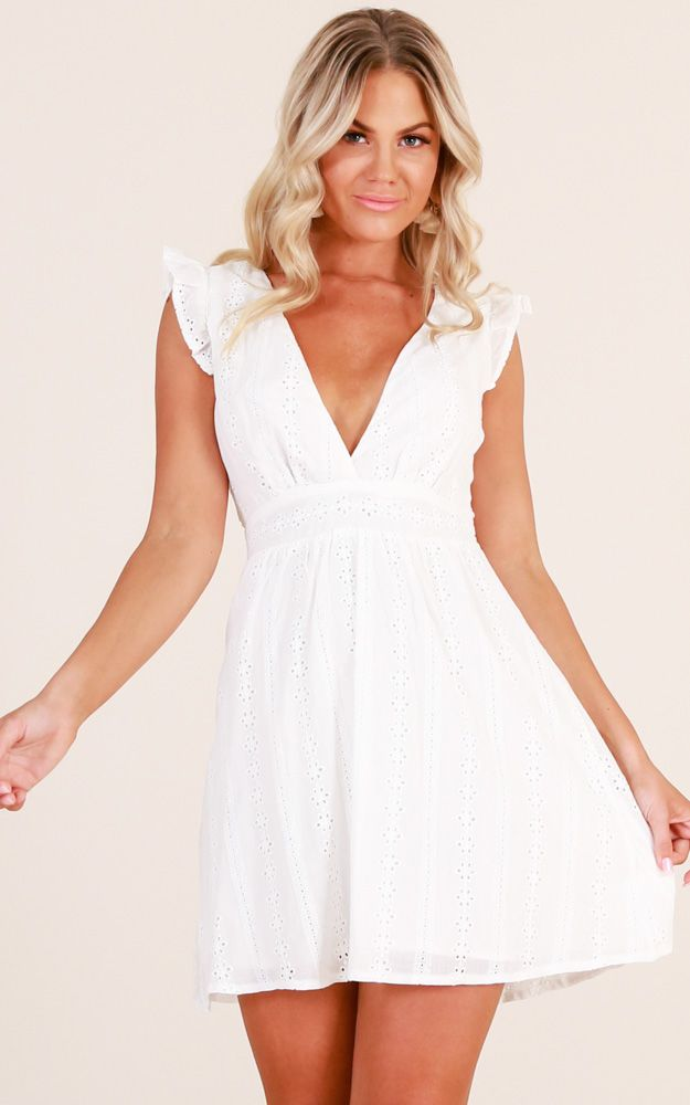 fd81ef59b6c7 Showpo Something In The Air dress in white - 6 (XS) Casual Dresses ...