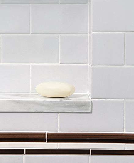 Ceramic Subway Tile Walls Ann Sacks Accent Tiles Inset Soap Dish