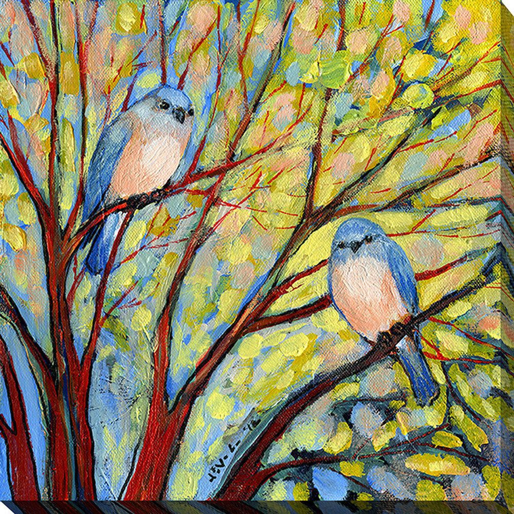 Jennifer Lommers \'Two Bluebirds\' Giclee Print Canvas Wall Art - Free ...