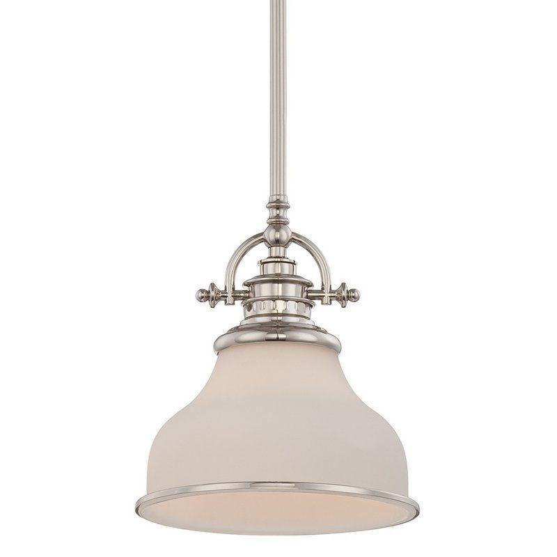 "Quoizel GRT1508 Grant 1 Light 8"" Wide Pendant Imperial Silver Indoor Lighting Pendants"