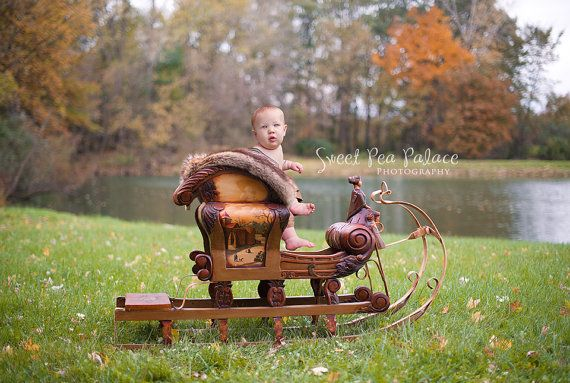 Instant Download Newborn Baby Child Photography Prop Digital Backdrop for Photographers -Christmas Holiday - Woodland Sleigh #backdropsforphotographs