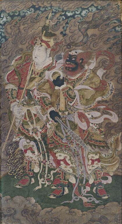 A Very Rare Group Of Five Daoist Paintings On Silk, China