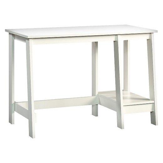 Room Essentials Trestle Desk White | Desks, Trestle desk and Shelving