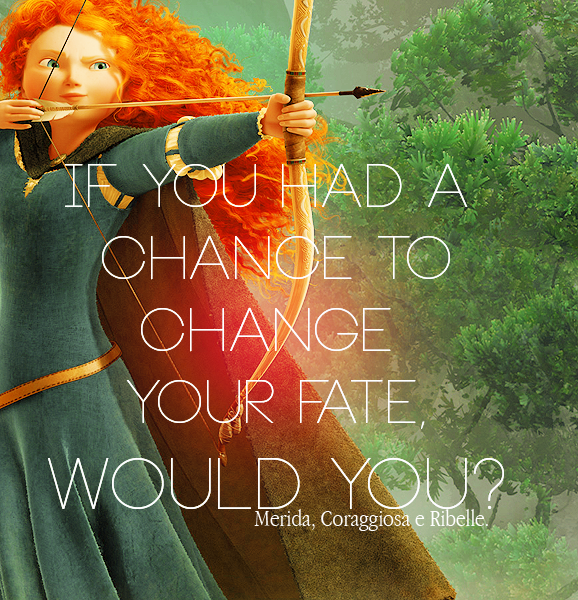 Merida. My favorite Disney princess! From the hair, to the home life, to the ethnicity, all the way to the bow-this is me!