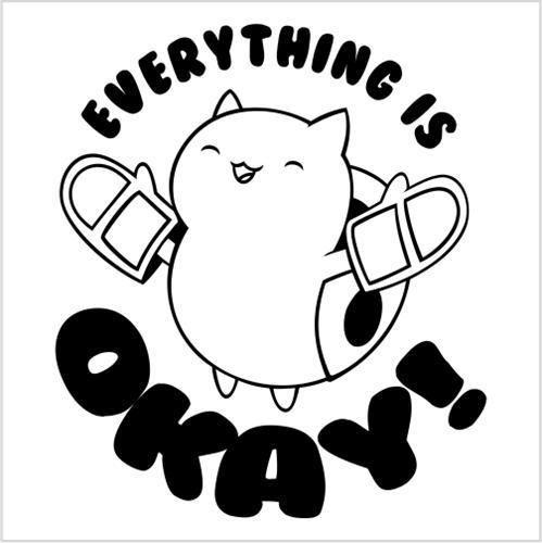 Catbug Everything is OK bravest warriors vinyl die cut decal ...