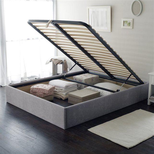 sommier coffre en kit en 2019 mobilier bed storage. Black Bedroom Furniture Sets. Home Design Ideas