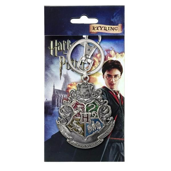 Harry Potter Hogwarts Crest Pewter Metal Keychain NEW Keyring Houses   harrypotter  harry  book e89397d1f3