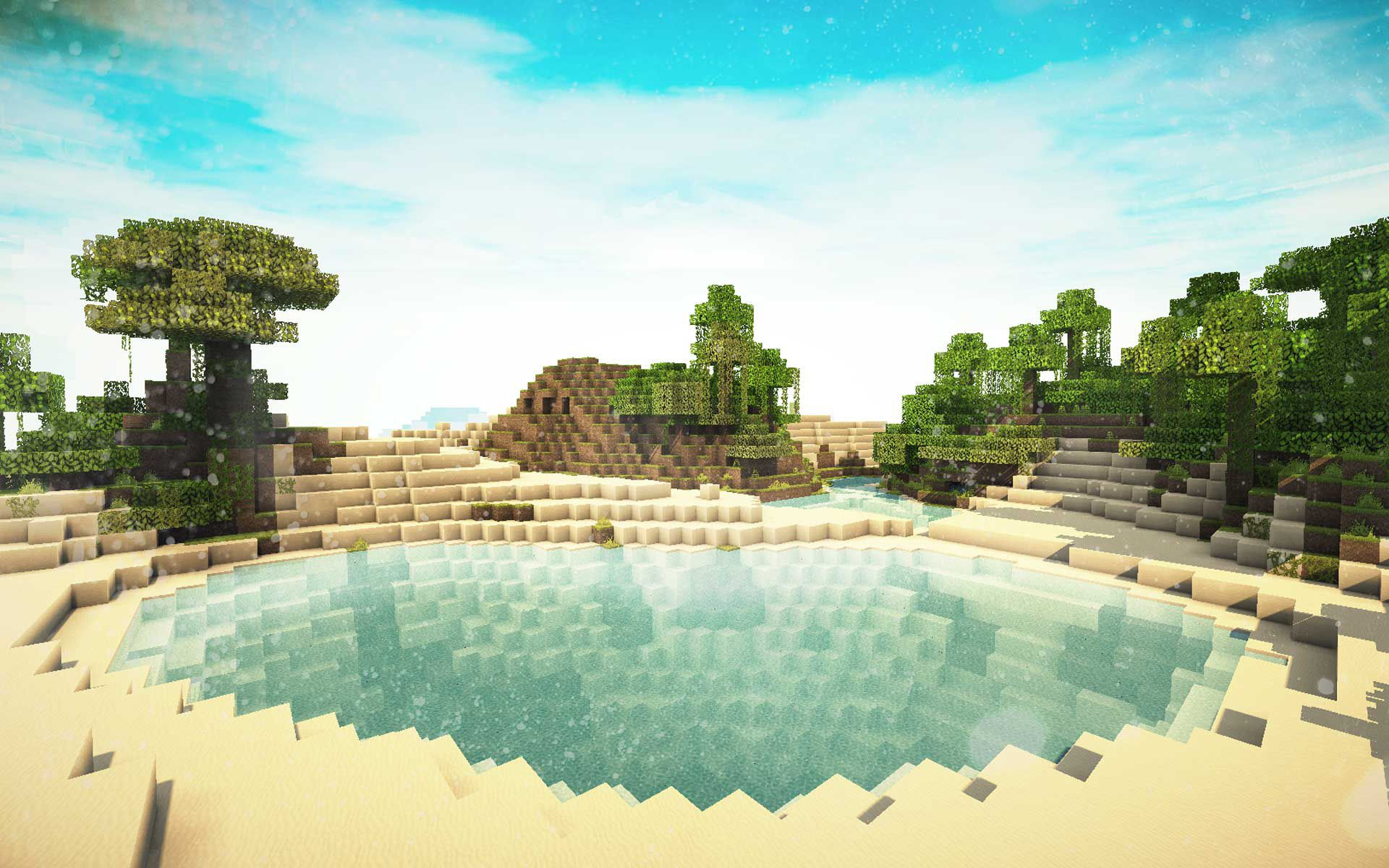 Minecraft With Shaders Hd Desktop Wallpaper High Definition 1440 837 Minecraft Shaders Backgroun Papel De Parede Minecraft Fotos De Minecraft Chale Minecraft