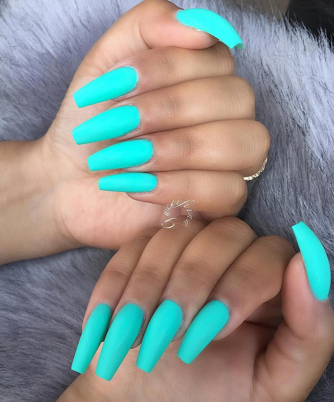 Pinterest Stacey Belle Fakenail Teal Acrylic Nails Turquoise Nails Long Acrylic Nails Coffin