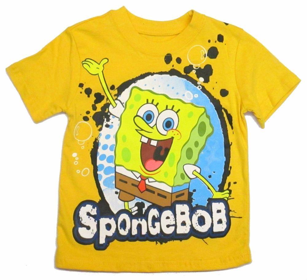 ca17cd720 SpongeBob SquarePants Splotch Graphic Tee Shirt Toddler Boys Yellow SS 2t  3t 4t #Nickelodeon #Everyday